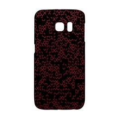 Random Red Black Galaxy S6 Edge by Mariart