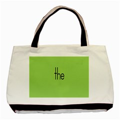 Sign Green The Basic Tote Bag (two Sides) by Mariart