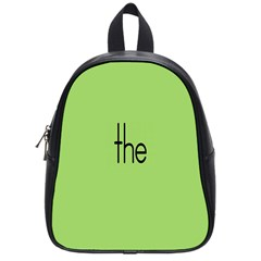 Sign Green The School Bags (small)  by Mariart