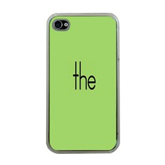 Sign Green The Apple Iphone 4 Case (clear) by Mariart