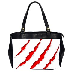 Scratches Claw Red White Office Handbags (2 Sides)  by Mariart