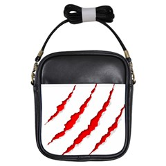 Scratches Claw Red White Girls Sling Bags by Mariart