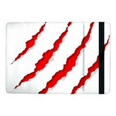Scratches Claw Red White Samsung Galaxy Tab Pro 10 1  Flip Case by Mariart