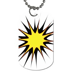 Spot Star Yellow Black White Dog Tag (two Sides) by Mariart