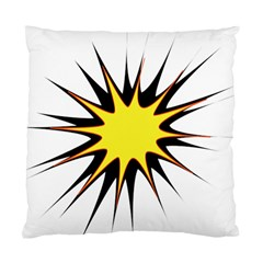 Spot Star Yellow Black White Standard Cushion Case (two Sides) by Mariart