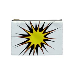 Spot Star Yellow Black White Cosmetic Bag (medium)  by Mariart