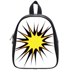 Spot Star Yellow Black White School Bags (small)  by Mariart