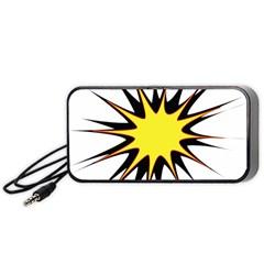 Spot Star Yellow Black White Portable Speaker (black)