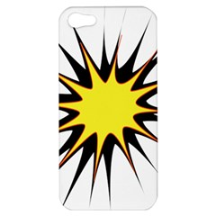 Spot Star Yellow Black White Apple Iphone 5 Hardshell Case