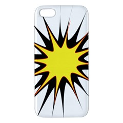 Spot Star Yellow Black White Apple Iphone 5 Premium Hardshell Case by Mariart