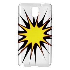 Spot Star Yellow Black White Samsung Galaxy Note 3 N9005 Hardshell Case by Mariart