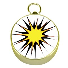 Spot Star Yellow Black White Gold Compasses by Mariart