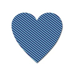 Striped  Line Blue Heart Magnet by Mariart