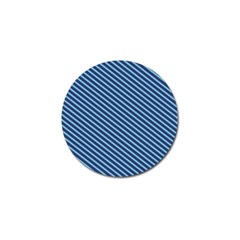Striped  Line Blue Golf Ball Marker (4 Pack) by Mariart