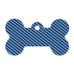 Striped  Line Blue Dog Tag Bone (two Sides) by Mariart