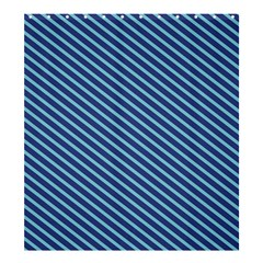 Striped  Line Blue Shower Curtain 66  X 72  (large)  by Mariart