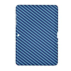 Striped  Line Blue Samsung Galaxy Tab 2 (10 1 ) P5100 Hardshell Case  by Mariart
