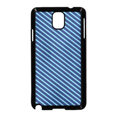 Striped  Line Blue Samsung Galaxy Note 3 Neo Hardshell Case (black) by Mariart