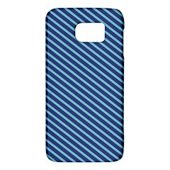Striped  Line Blue Galaxy S6 by Mariart