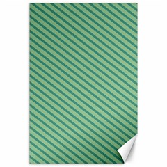 Striped Green Canvas 24  X 36  by Mariart