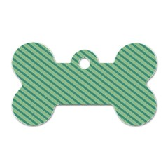 Striped Green Dog Tag Bone (two Sides) by Mariart