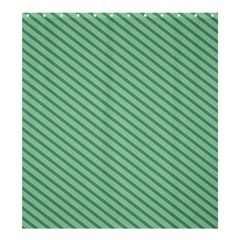 Striped Green Shower Curtain 66  X 72  (large)  by Mariart