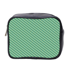 Striped Green Mini Toiletries Bag 2 Side by Mariart