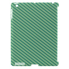 Striped Green Apple Ipad 3/4 Hardshell Case (compatible With Smart Cover) by Mariart