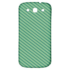 Striped Green Samsung Galaxy S3 S Iii Classic Hardshell Back Case by Mariart
