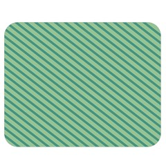 Striped Green Double Sided Flano Blanket (medium)  by Mariart