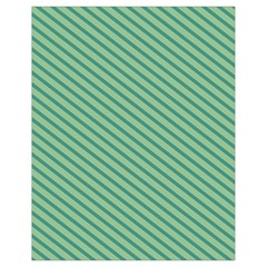 Striped Green Drawstring Bag (small) by Mariart