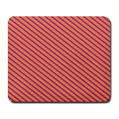 Striped Purple Orange Large Mousepads by Mariart
