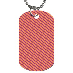 Striped Purple Orange Dog Tag (one Side) by Mariart