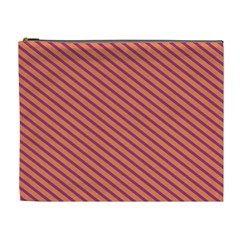 Striped Purple Orange Cosmetic Bag (xl) by Mariart