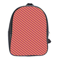 Striped Purple Orange School Bags(large)  by Mariart