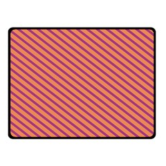 Striped Purple Orange Fleece Blanket (small) by Mariart