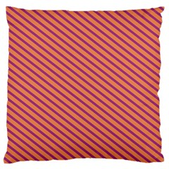 Striped Purple Orange Large Cushion Case (two Sides) by Mariart