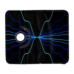 Sine Squared Line Blue Black Light Galaxy S3 (flip/folio) by Mariart