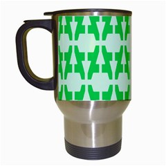 Sign Green A Travel Mugs (white) by Mariart