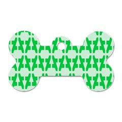 Sign Green A Dog Tag Bone (two Sides) by Mariart
