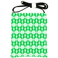 Sign Green A Shoulder Sling Bags by Mariart