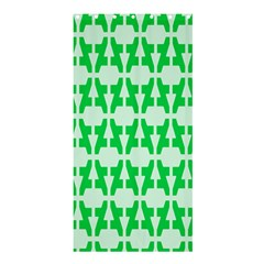 Sign Green A Shower Curtain 36  X 72  (stall)  by Mariart