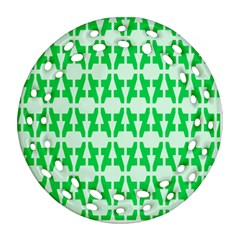 Sign Green A Ornament (round Filigree) by Mariart