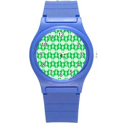 Sign Green A Round Plastic Sport Watch (s) by Mariart