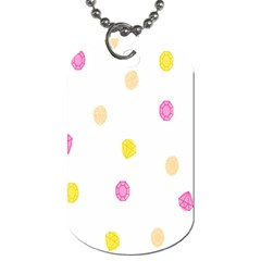 Stone Diamond Yellow Pink Brown Dog Tag (one Side) by Mariart
