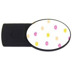 Stone Diamond Yellow Pink Brown Usb Flash Drive Oval (4 Gb) by Mariart