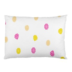 Stone Diamond Yellow Pink Brown Pillow Case by Mariart