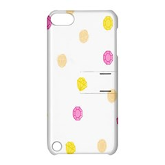 Stone Diamond Yellow Pink Brown Apple Ipod Touch 5 Hardshell Case With Stand by Mariart