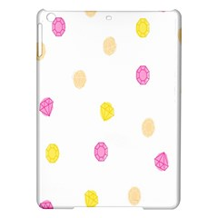 Stone Diamond Yellow Pink Brown Ipad Air Hardshell Cases by Mariart