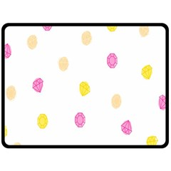 Stone Diamond Yellow Pink Brown Double Sided Fleece Blanket (large)  by Mariart
